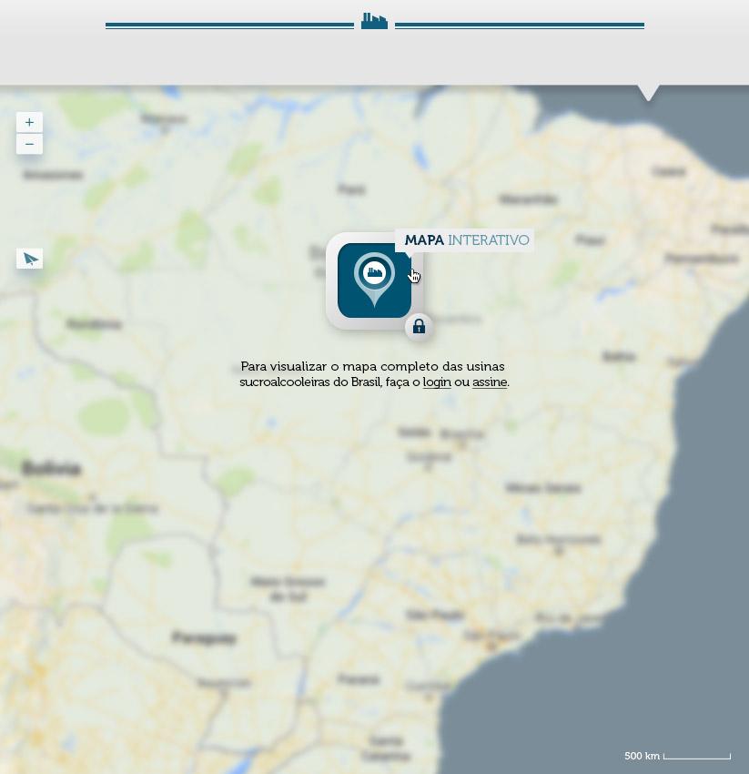 O Mapa das usinas sucro alcooleiras do Brasil